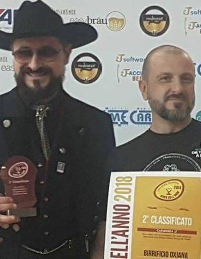 Birrificio Oxiana birra dell'anno 2018